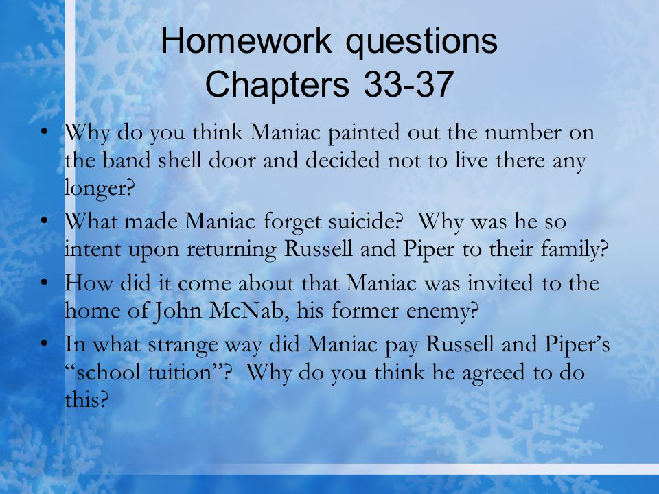 Homework questions Chapters 33-37