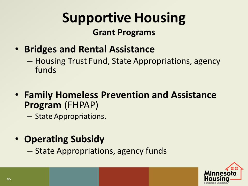 Supportive Housing Grant Programs