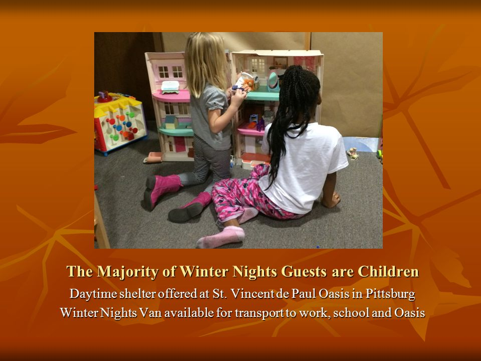 The Majority of Winter Nights Guests are Children