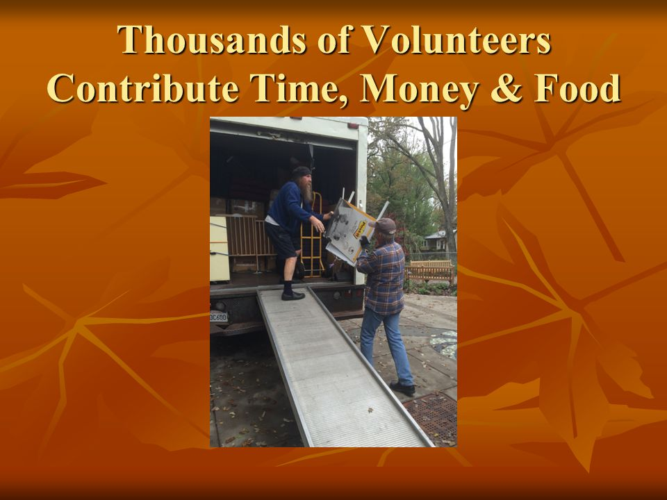 Thousands of Volunteers Contribute Time, Money & Food