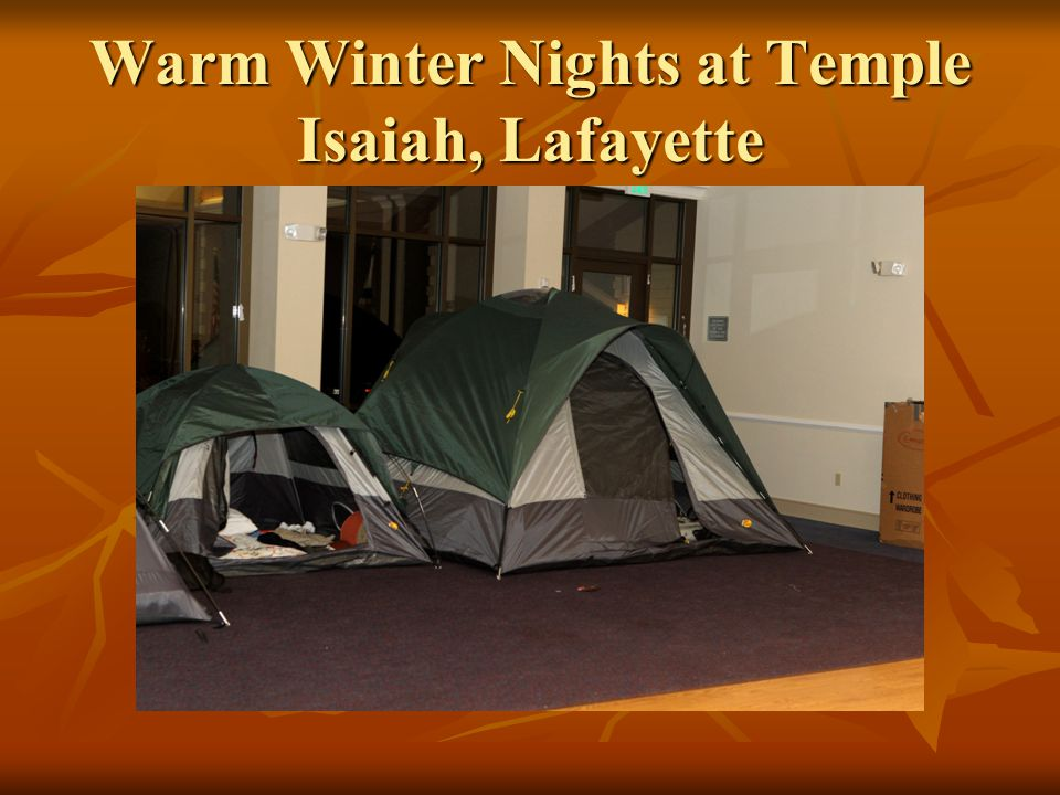 Warm Winter Nights at Temple Isaiah, Lafayette