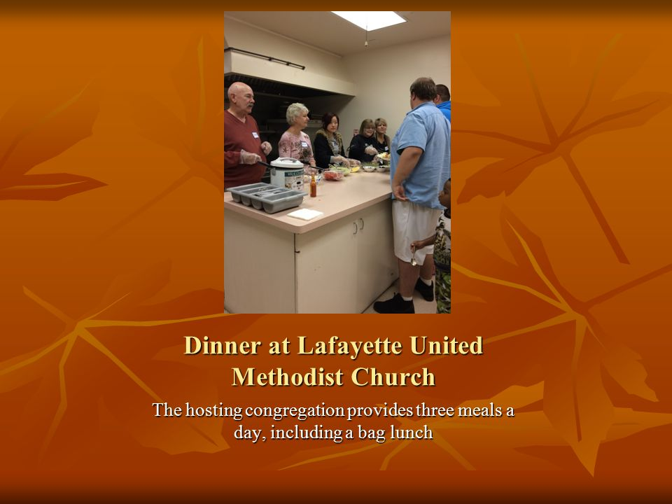 Dinner at Lafayette United Methodist Church