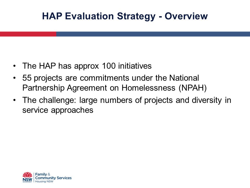 HAP Evaluation Strategy - Overview