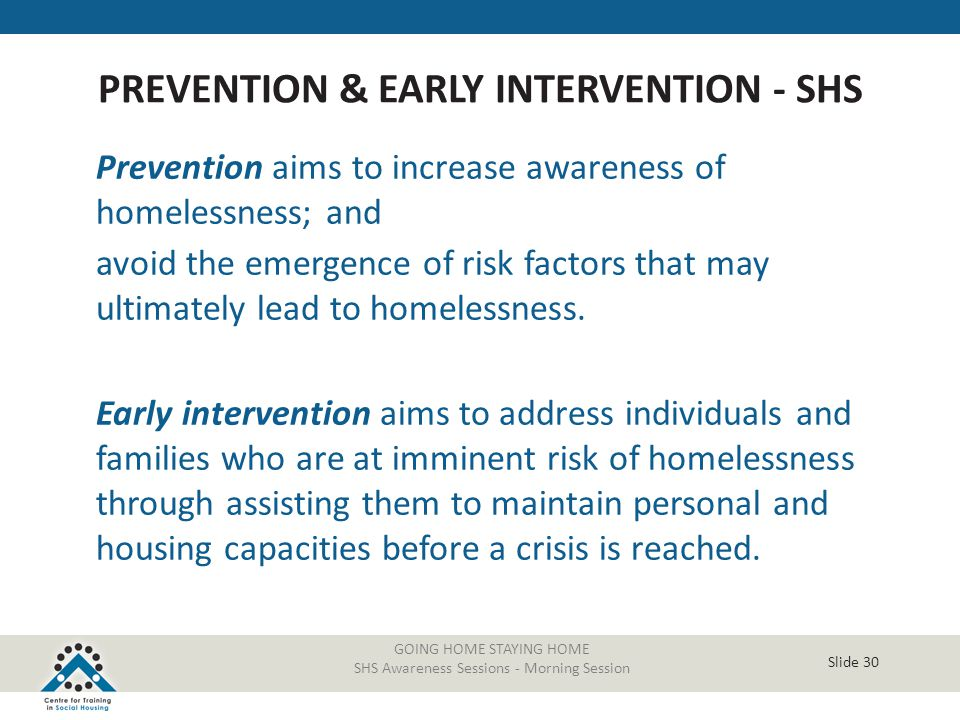 PREVENTION & EARLY INTERVENTION - SHS
