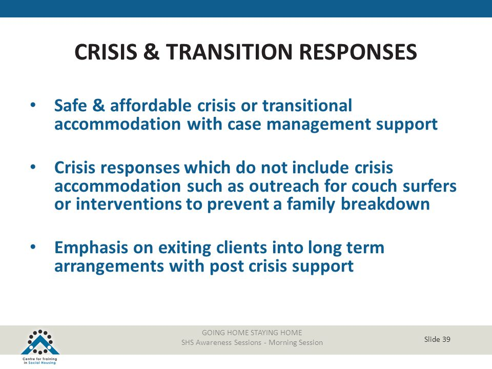 CRISIS & TRANSITION RESPONSES