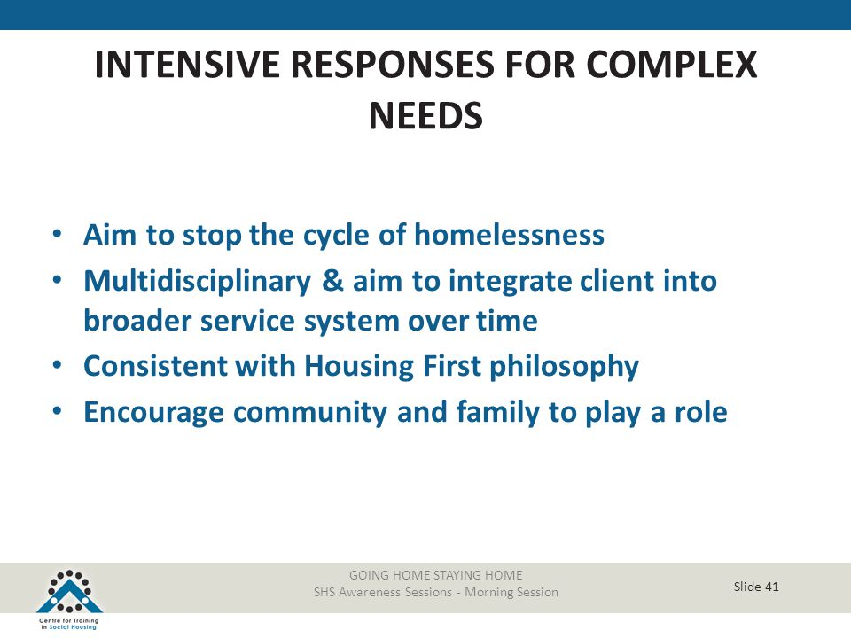 INTENSIVE RESPONSES FOR COMPLEX NEEDS