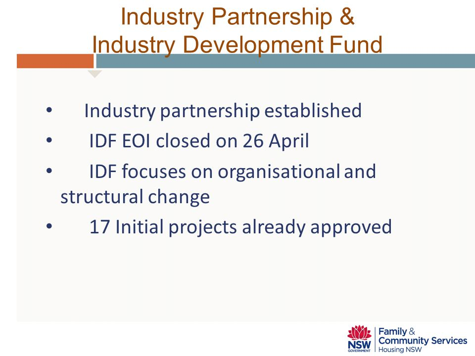Industry Partnership & Industry Development Fund