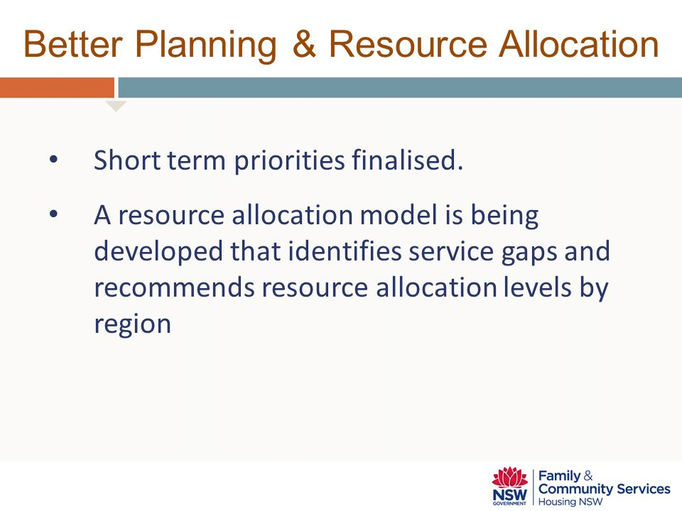 Better Planning & Resource Allocation