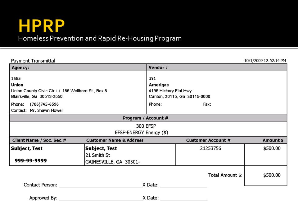 HPRP Homeless Prevention and Rapid Re-Housing Program