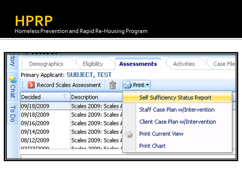 HPRP Homeless Prevention and Rapid Re-Housing Program FORMS EZT Forms