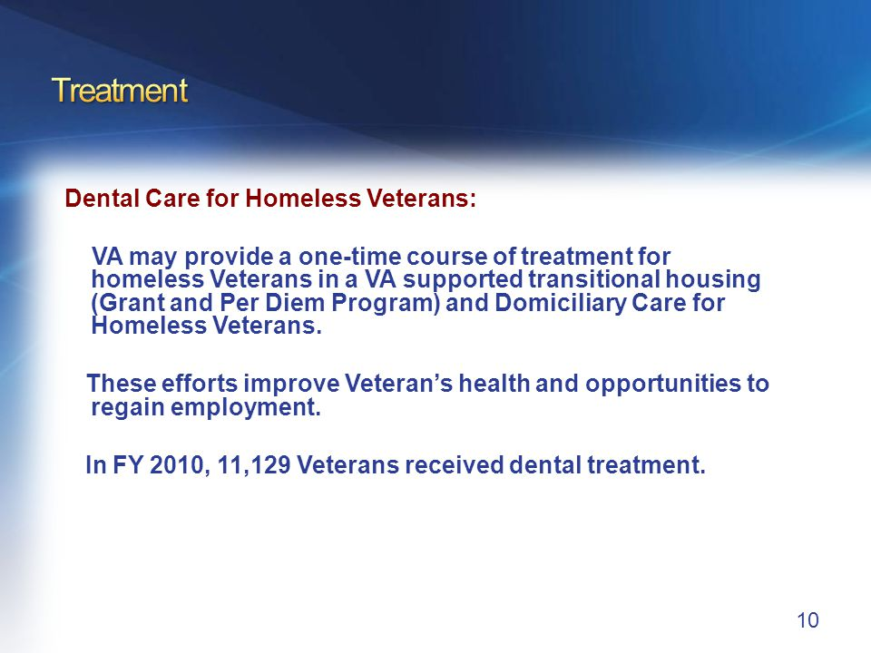 Treatment Domiciliary Care for Homeless Veterans (DCHV):