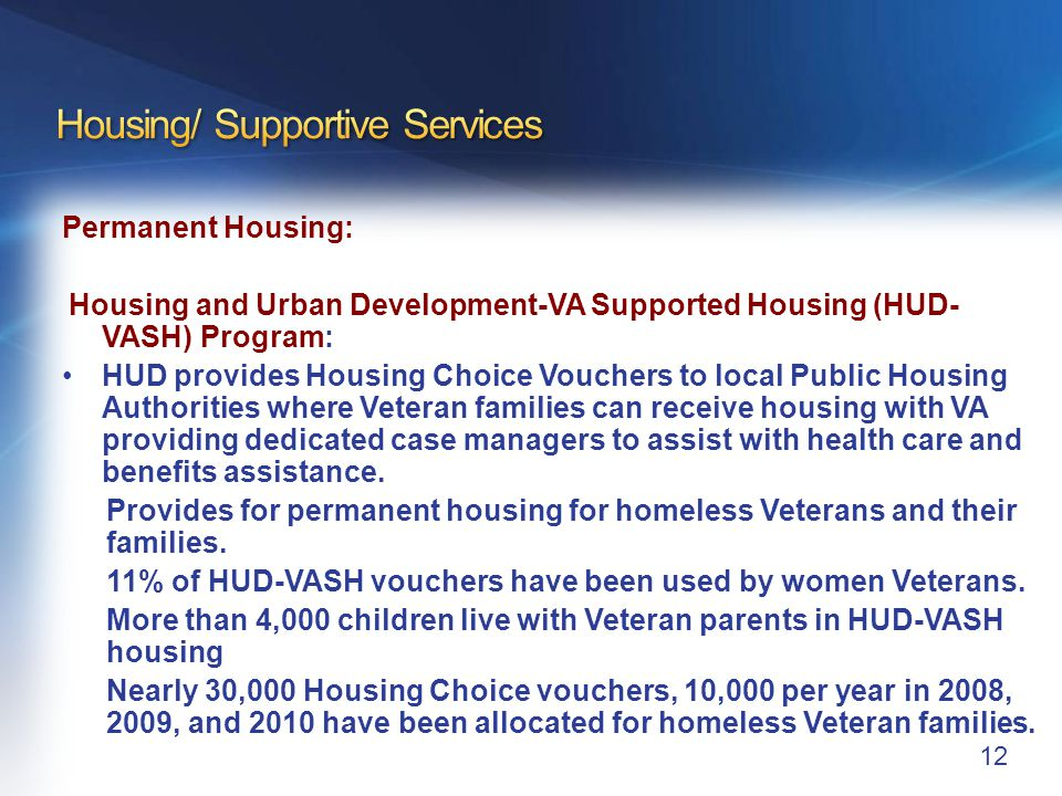 Housing/Supportive Services