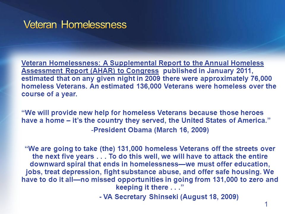 Root Causes of Homelessness