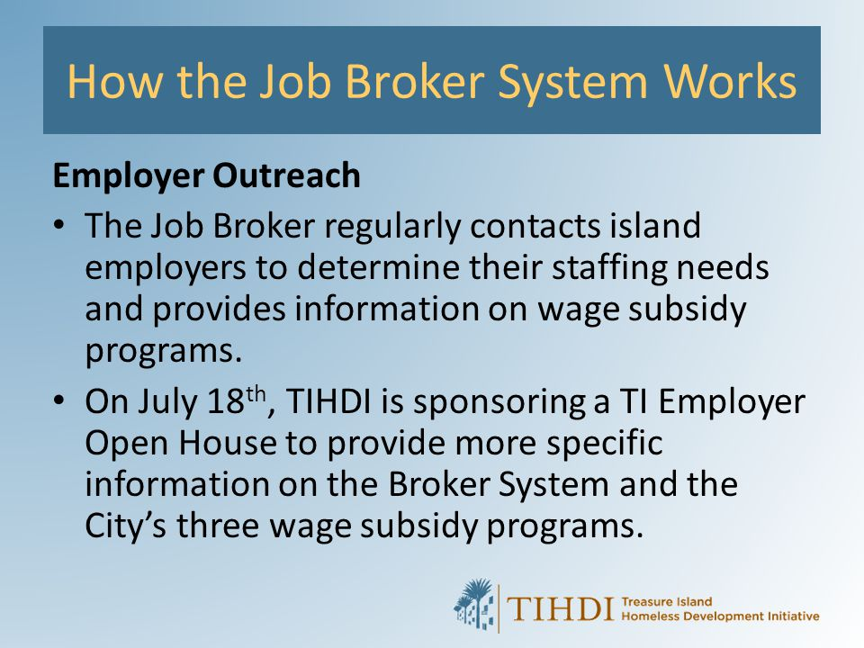 How the Job Broker System Works