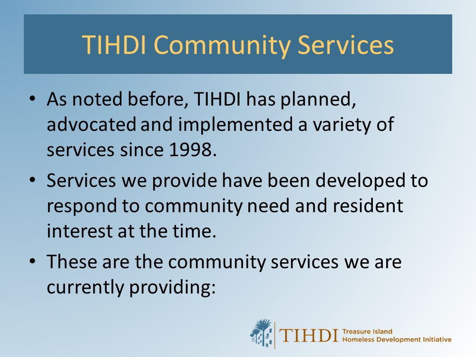 TIHDI Community Services