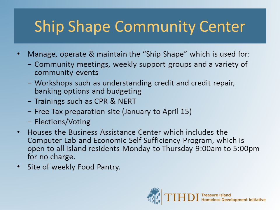 Ship Shape Community Center