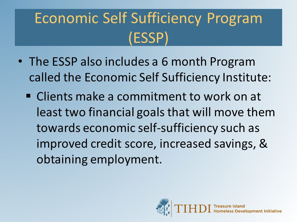 Economic Self Sufficiency Program (ESSP)
