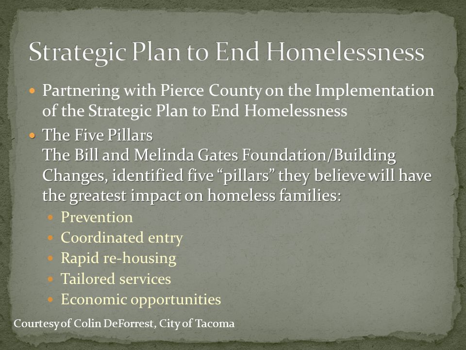 Strategic Plan to End Homelessness