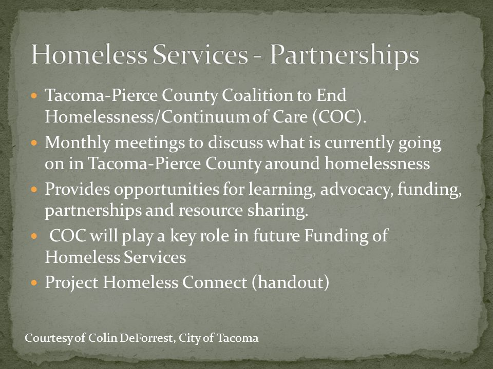 Homeless Services - Partnerships