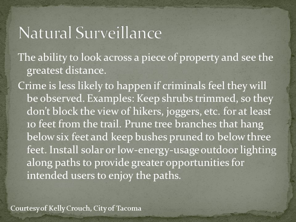 Natural Surveillance