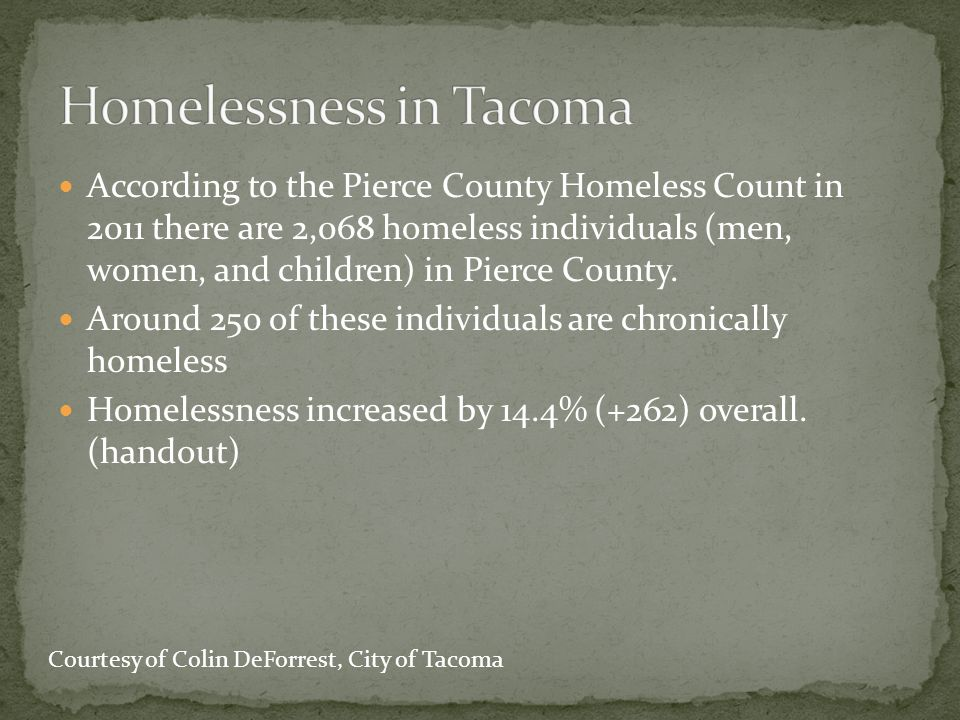 Homelessness in Tacoma