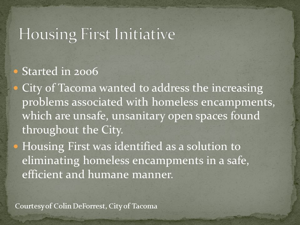 Housing First Initiative