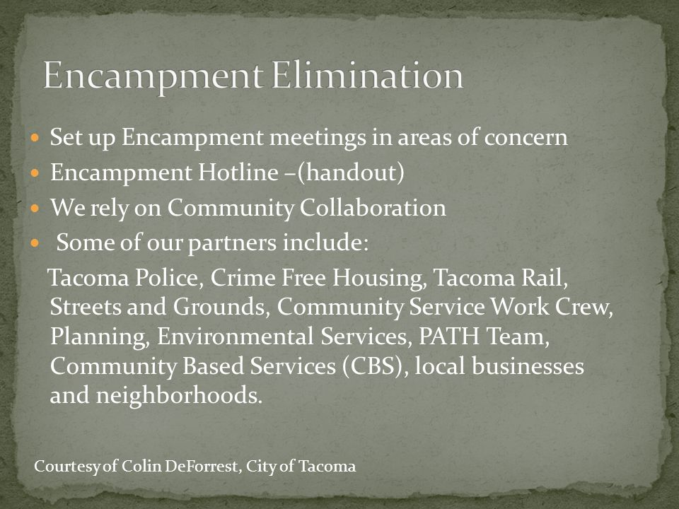 Encampment Elimination