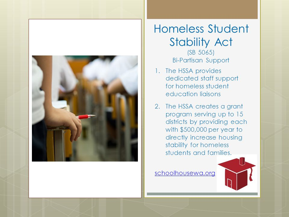 Homeless Student Stability Act (SB 5065) Bi-Partisan Support