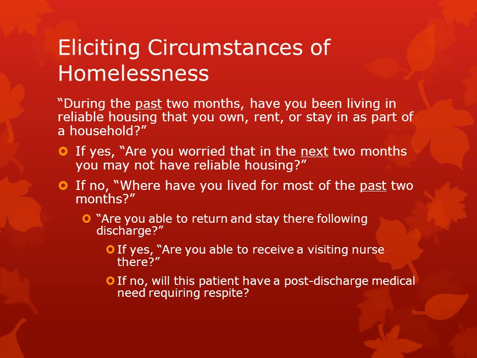 Eliciting Circumstances of Homelessness