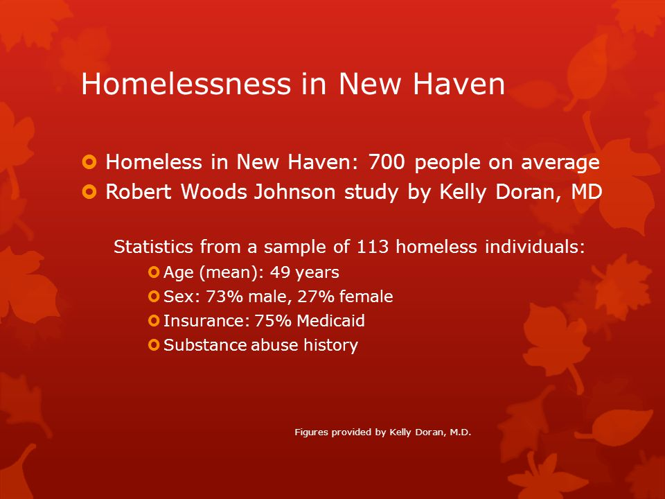 Homelessness in New Haven