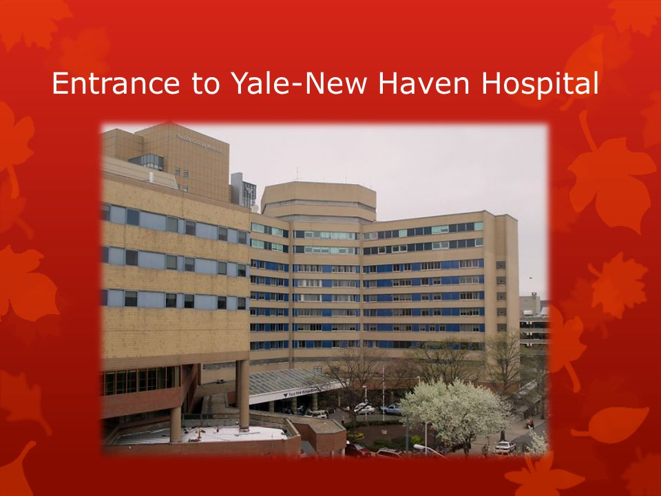 Entrance to Yale-New Haven Hospital