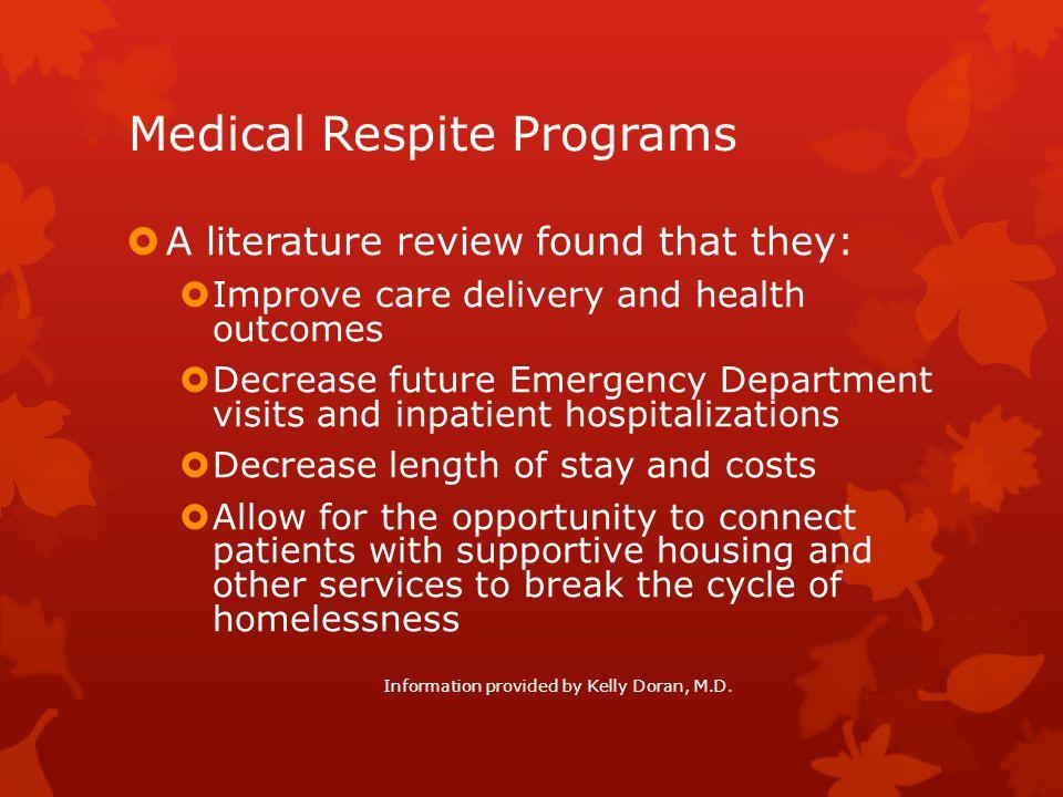 Medical Respite Programs
