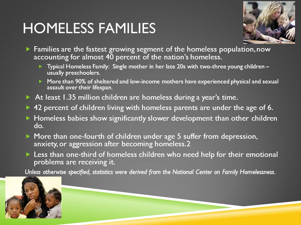 Homeless families