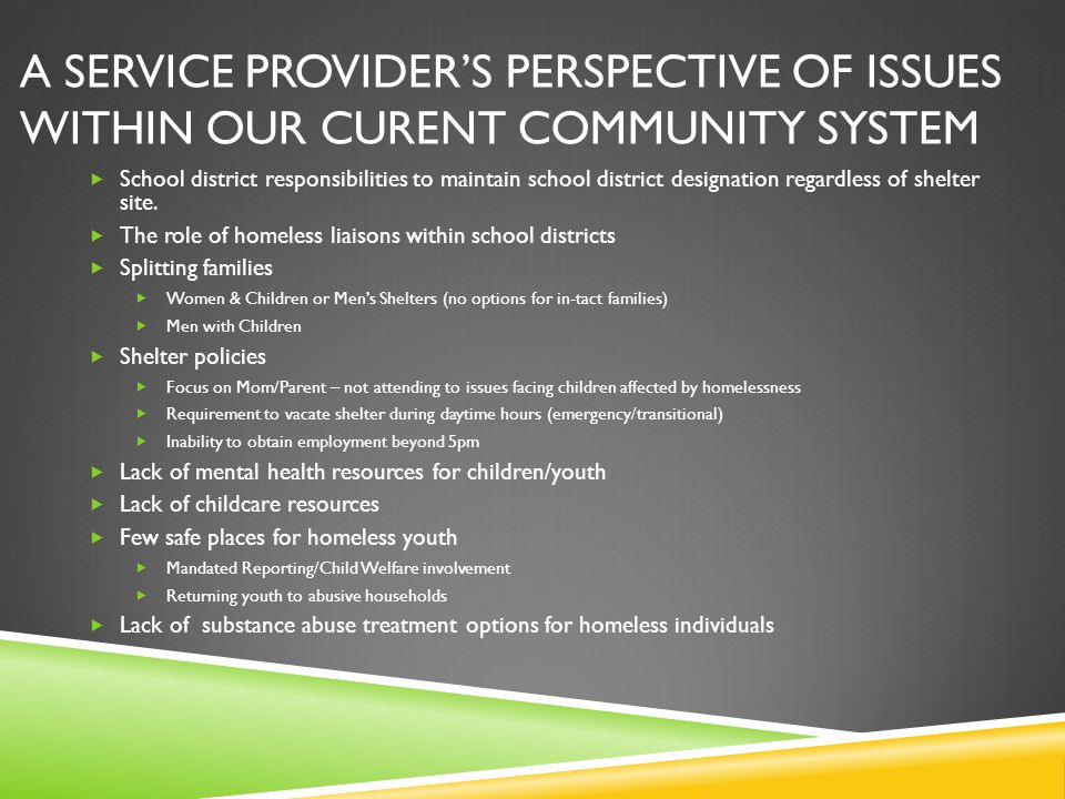 A service provider's perspective of issues within our CURENT community system