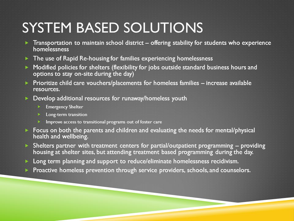 System based solutions