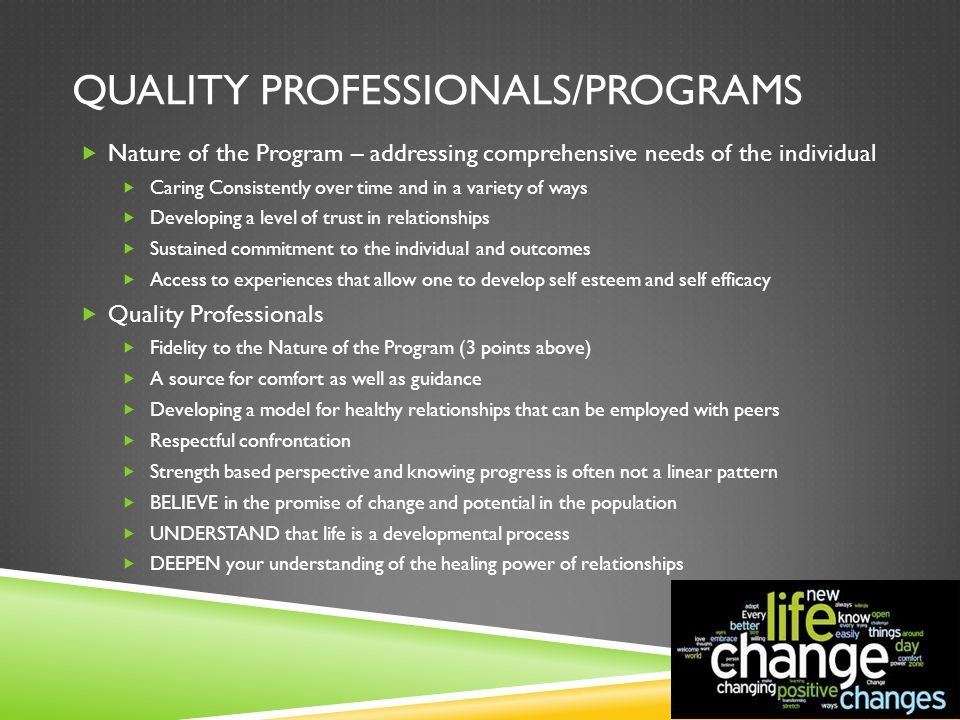 Quality Professionals/Programs