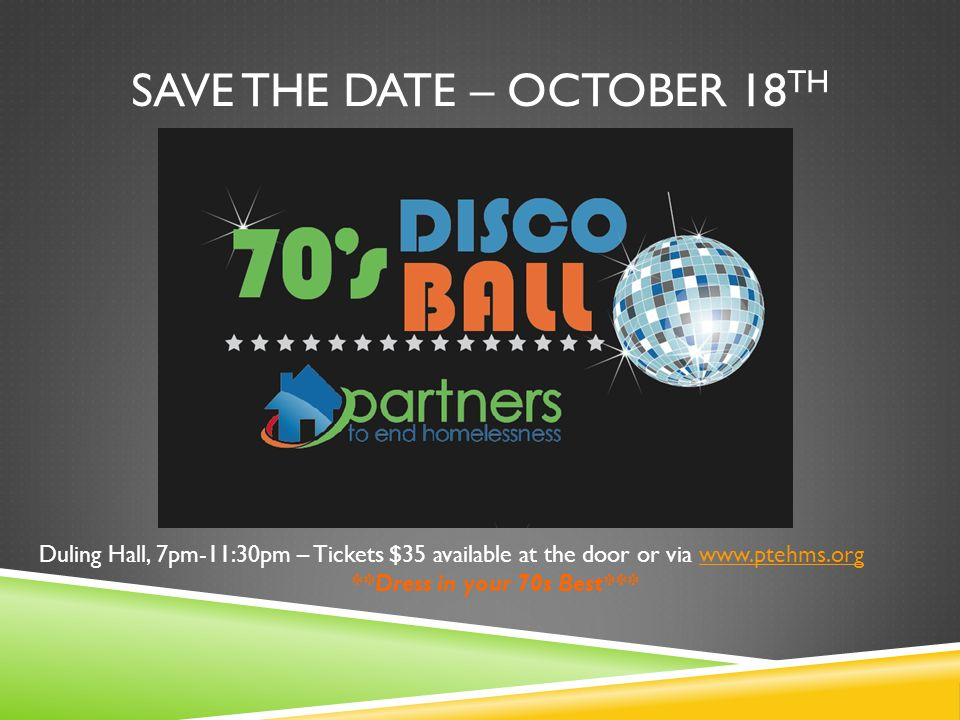 Save the date – October 18th