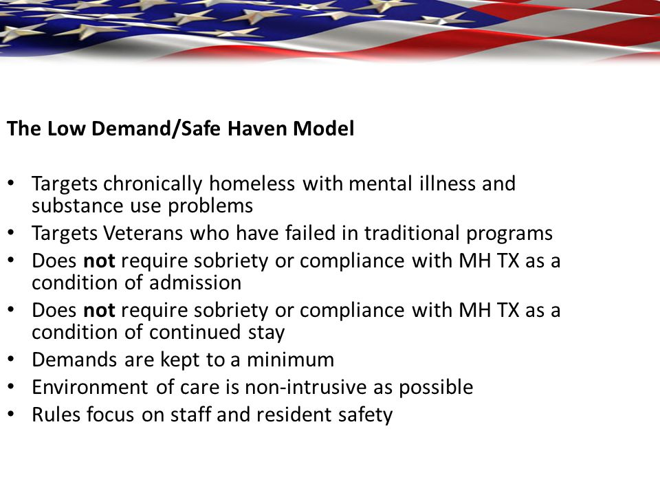 The Low Demand/Safe Haven Model