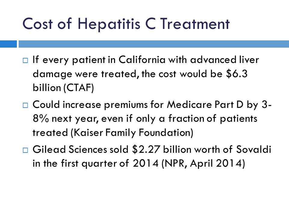 Cost of Hepatitis C Treatment