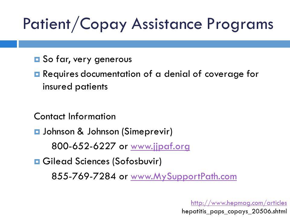 Patient/Copay Assistance Programs