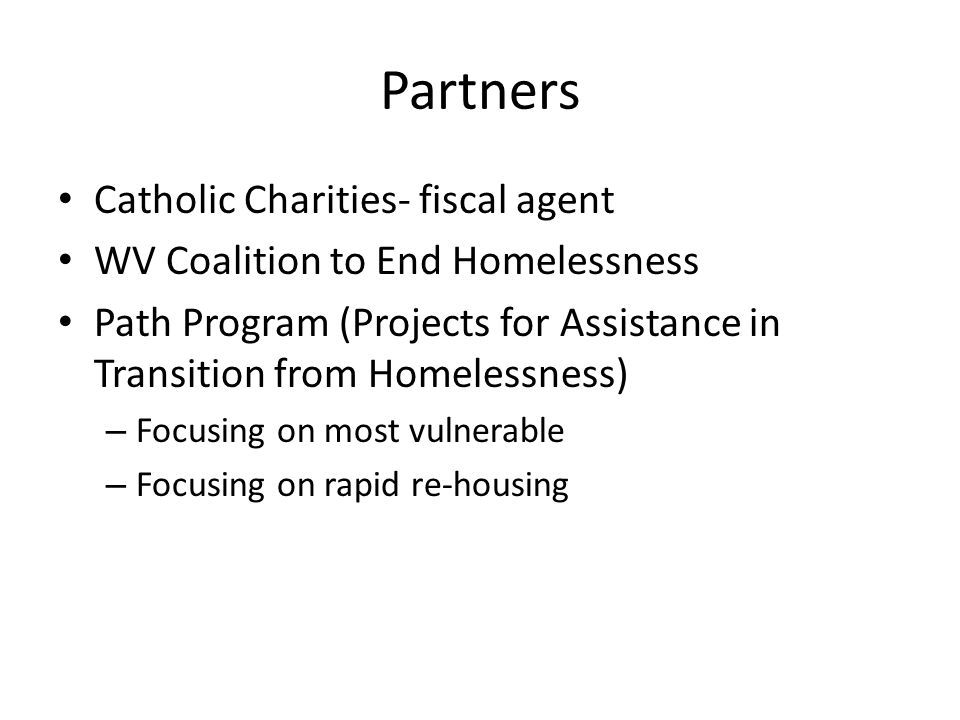 Partners Catholic Charities- fiscal agent