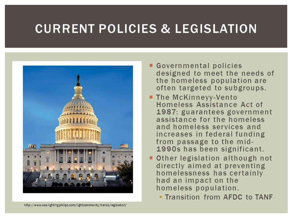 Current Policies & Legislation