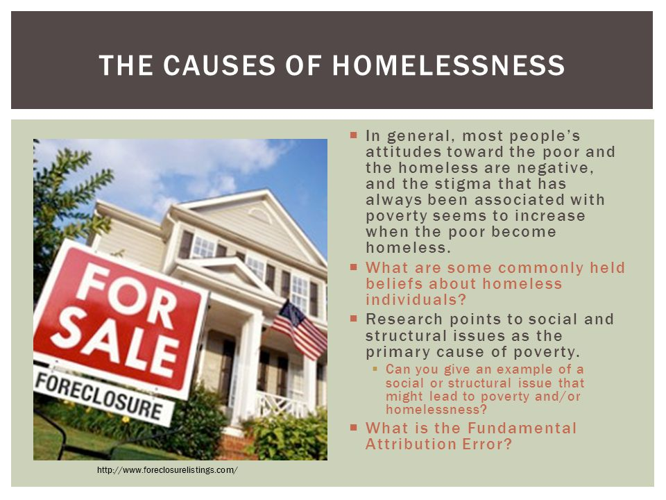 The Causes of Homelessness