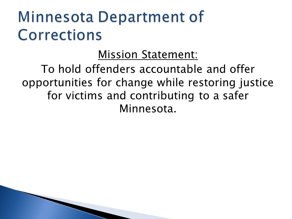 Minnesota Department of Corrections