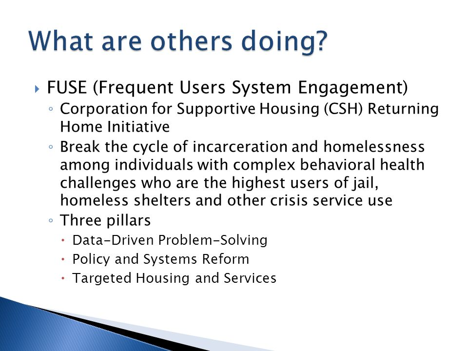 What are others doing FUSE (Frequent Users System Engagement)