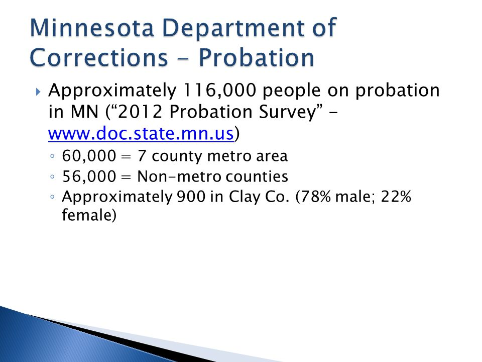 Minnesota Department of Corrections - Probation