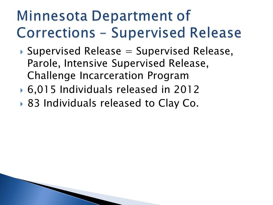 Minnesota Department of Corrections – Supervised Release