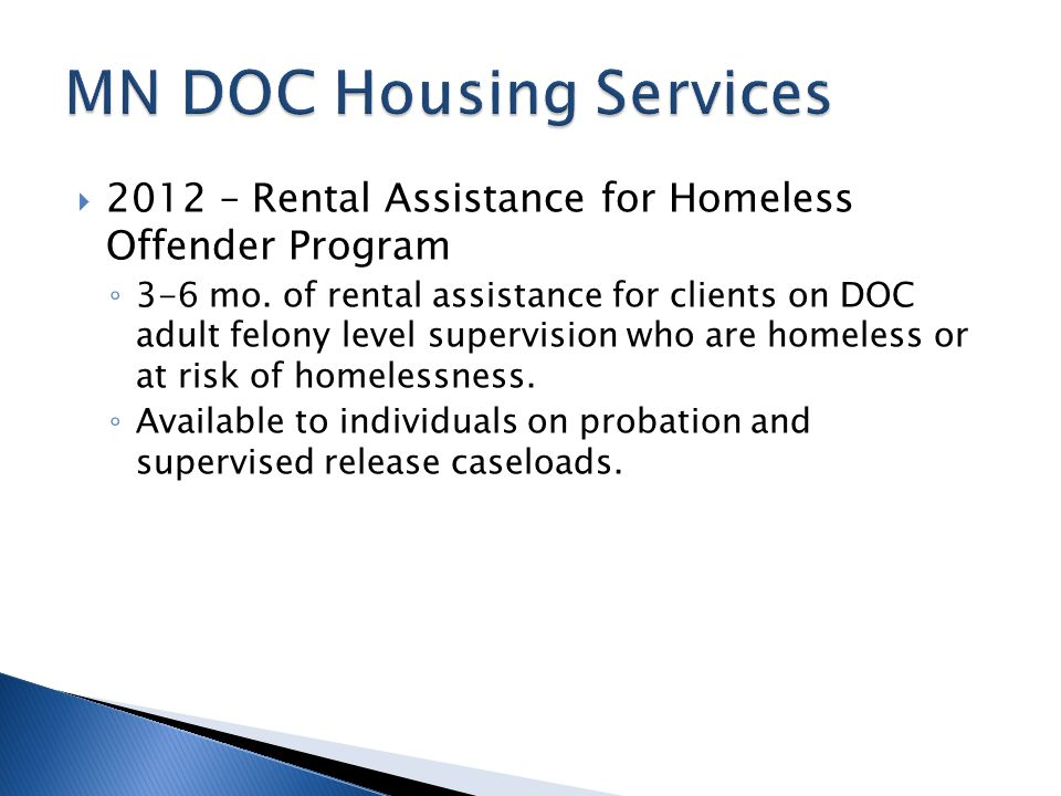 MN DOC Housing Services