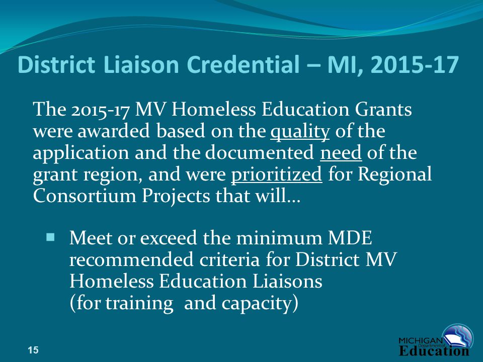 District Liaison Credential – MI, 2015-17