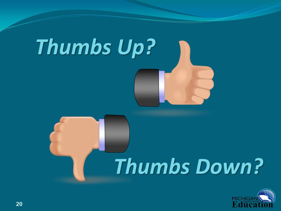 Thumbs Up Thumbs Down 20